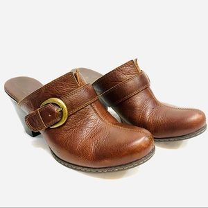BOC Clogs Brown Leather with Buckle